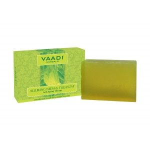 Buy Vaadi Herbals Alluring Neem And Tulsi Soap - Nykaa