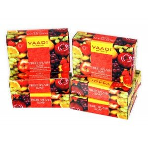 Buy Vaadi Herbals Value Pack Of 6 Fruit Splash Soap With Extracts Of Orange, Peach, Green Apple & Lemon - Nykaa