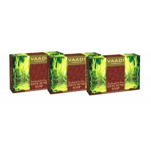 Buy Vaadi Herbals Value Pack Of 3 Becalming Tea Tree Soap Anti-Acne Therapy - Nykaa