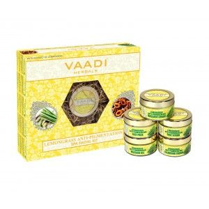 Buy Vaadi Herbals Lemongrass Anti-Pigmentation Spa Facial Kit With Cedarwood Extract - Nykaa