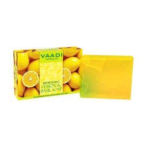 Buy Vaadi Herbals Refreshing Lemon And Basil Soap - Nykaa