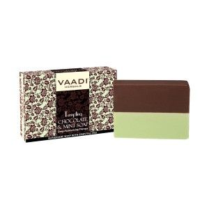 Buy Vaadi Herbals Tempting Chocolate & Mint Soap-Deep Moisturising Therapy - Nykaa