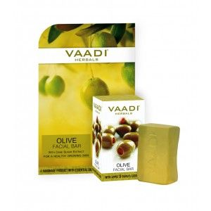 Buy Vaadi Herbals Olive Facial Bar With Cane Sugar Extract - Nykaa
