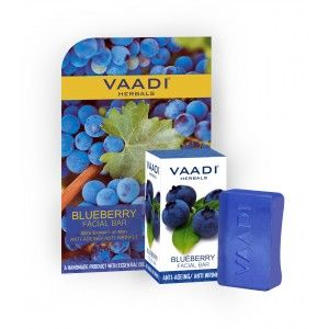 Buy Vaadi Herbals Blueberry Facial Bar With Extract Of Mint Anti-Ageing/Anti Wrinkle - Nykaa
