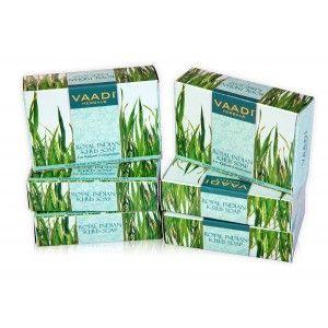 Buy Vaadi Herbals Value Pack Of 6 Royal Indian Khus Soap - Nykaa