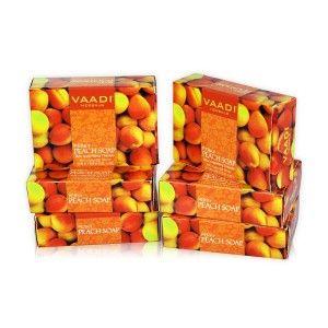 Buy Vaadi Herbals Super Value Pack Of 6 Perky Peach Soap - Nykaa