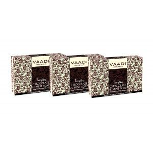 Buy Vaadi Herbals Value Pack Of 3 Tempting Chocolate & Mint Soap-Deep Moisturising Therapy - Nykaa