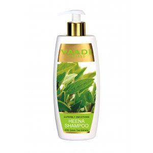 Buy Vaadi Herbals Superbly Smoothing Heena Shampoo With Green Tea Extracts  - Nykaa