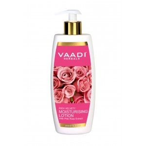 Buy Vaadi Herbals Moisturising Lotion With Pink Rose Extract  - Nykaa
