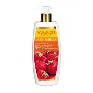 Buy Vaadi Herbals Strawberry Scrub Lotion With Walnut Grains  - Nykaa