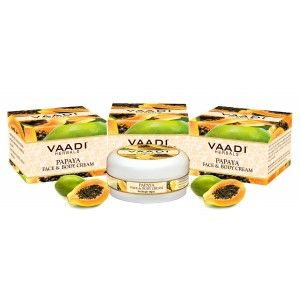 Buy Vaadi Herbals Value Pack Of 3 Papaya Face & Body Cream - Nykaa
