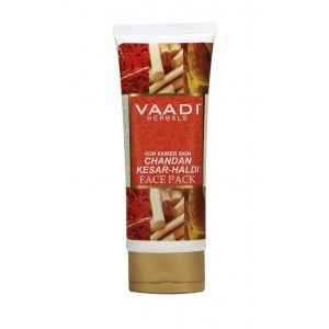 Buy Vaadi Herbals Chandan Kesar Haldi Fairness Face Pack - Nykaa