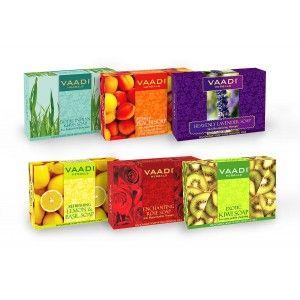 Buy Vaadi Herbals Exotic Floavors Handmade Herbal Soaps (Pack Of 6) - Nykaa