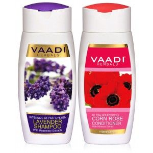Buy Vaadi Herbals Lavender Shampoo With Corn Rose Conditioner - Nykaa