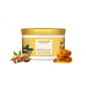 Buy Vaadi Herbals Instant Glow Face Pack With Almond And Honey - Nykaa