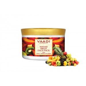 Buy Vaadi Herbals Refreshing Fruit Face Pack With Apple Lemon & Cucumber - Nykaa