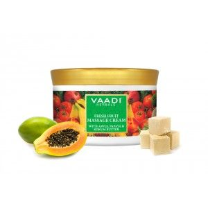 Buy Vaadi Herbals Fresh Fruit Massage Cream With Apple Papaya & Kokum Butter - Nykaa