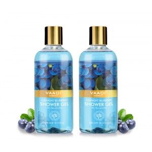 Buy Vaadi Herbals Midnight Blueberry Shower Gel (Pack of 2) - Nykaa