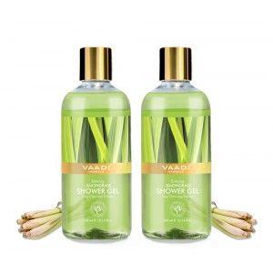 Buy Vaadi Herbals Enticing Lemongrass Shower Gel (Pack of 2) - Nykaa