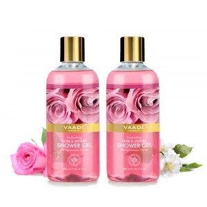 Buy Vaadi Herbals Enchanting Rose & Mogra Shower Gel (Pack of 2) - Nykaa