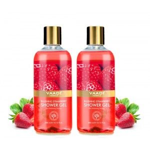 Buy Vaadi Herbals Blushing Strawberry Shower Gel (Pack of 2) - Nykaa