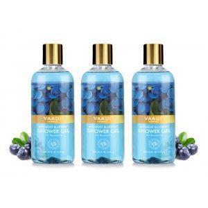 Buy Vaadi Herbals Midnight Blueberry Shower Gel (Pack of 3) - Nykaa