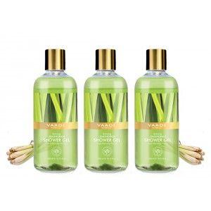 Buy Vaadi Herbals Enticing Lemongrass Shower Gel (Pack of 3) - Nykaa