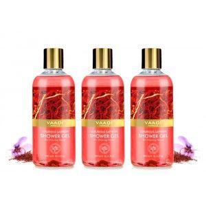 Buy Vaadi Herbals Luxurious Saffron Shower Gel (Pack of 3) - Nykaa