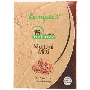 Buy Banjara's 15 Minute Multani Mitti Face Pack (5 Sachets Inside) - Nykaa