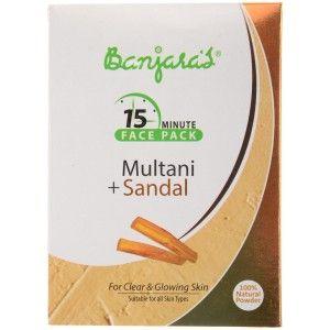 Buy Banjara's 15 Minute Multani + Sandal Face Pack (5 Sachets Inside) - Nykaa