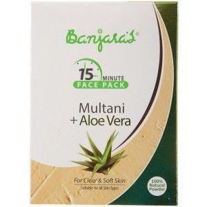 Buy Banjara's 15 Minute Multani + Aloevera Face Pack (5 Sachets Inside) - Nykaa
