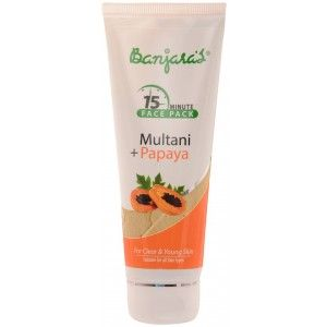 Buy Banjara's 15 Minute Multani + Papaya Face Pack(Tube) - Nykaa