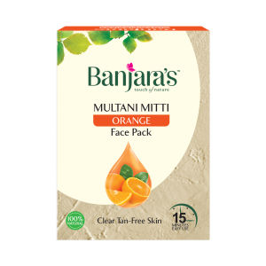 Buy Banjara's Multani Mitti Orange Face Pack (5 Sachets Inside) - Nykaa