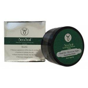 Buy SeaSoul Dead Sea Moroccan Argan Facial Mud Mask-Anti Ageing - Nykaa