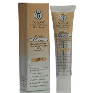 Buy SeaSoul HD Finish CC Cream With SPF 20 - Light - Nykaa