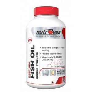 Buy Nutrovea Deep Sea Fish Oil Double Strength (60 Softgels) - Nykaa