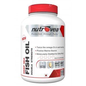 Buy Nutrovea Deep Sea Fish Oil Double Strength (120 Softgels) - Nykaa