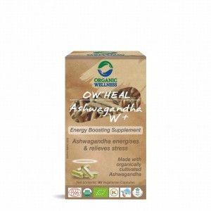 Buy Organic Wellness Heal Ashwagandha W+ (Energy Boosting Supplement) - Nykaa
