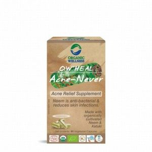 Buy Organic Wellness Heal Acne - Never (Acne Relief Supplement) - Nykaa