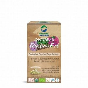 Buy Organic Wellness Heal Diabo-Fit (Diabetes Control Supplement) - Nykaa