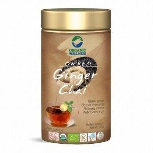 Buy Organic Wellness Real Ginger Chai Tin - Nykaa