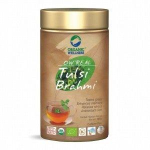 Buy Organic Wellness Real Tulsi Brahmi Tea Tin - Nykaa