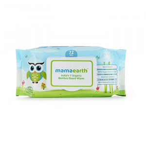 Buy Mamaearth India's First Organic Bamboo Based Baby Wipes - 72 Wipes - Nykaa
