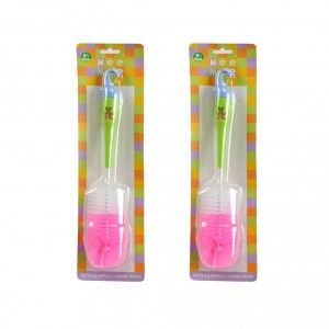 Buy Mee Mee Bottle and Nipple Cleaning Brush - Pink (Pack of 2) - Nykaa