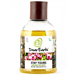 Buy Dear Earth Stay Young Radiance Organic Face Wash -150ml - Nykaa