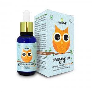 Buy Unived Ovegha D3 Kids, Vegan Omega 3 & Vitamin D3, 200mg DHA + 500 I.U. D3 - 30 Servings  - Nykaa