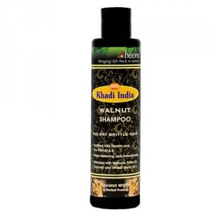 Buy Abeers Khadi Walnut Shampoo For Dry Hair - Nykaa