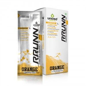 Buy Unived RRUNN During Isotonic Electrolyte Sports Drink Mix Orange Flavour - Nykaa