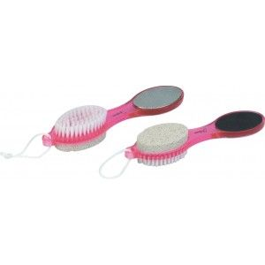 Buy Filone 4 In 1 Foot File With Pedicure Brush - Pink PD01P - Nykaa