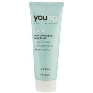Buy Natio Young Polish Pore Unclogging Face Scrub - Nykaa